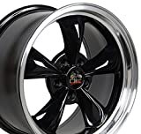 OE Wheels 17 Inch Fit Ford Mustang Bullitt Style Black 17x9 Rims SET