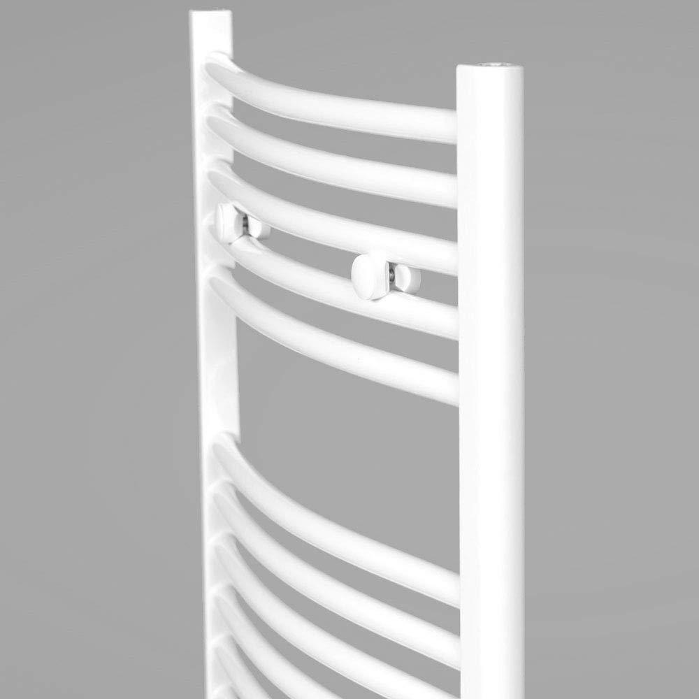Farbe: wei/ß Badheizk/örper Zimmerheld Heat Basic Handtuchtrockner Handtuchw/ärmer Seitenanschluss gebogen Gr/ö/ße: 60x160cm