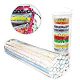 Youngever Wrapping Paper Organizer Ribbon Organizer - Extra Long (36'') Clear Gift Wrap Organizer (Heavy Duty PVC Clear Wrapping Paper Storage) Clear Ribbon Organizer