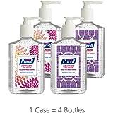 PURELL Advanced Hand Sanitizer, Refreshing Gel, Design Series, 8 fl oz Hand Sanitizer Table Top Pump Bottle (Pack of 4) - 9652-06-ECDECO