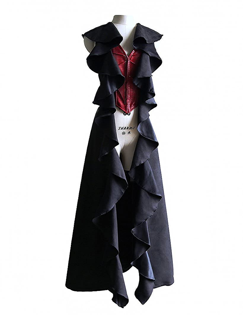 Women's Exclusive Pirate Faux Leather Dragon Wings Long Vest Jacket - DeluxeAdultCostumes.com
