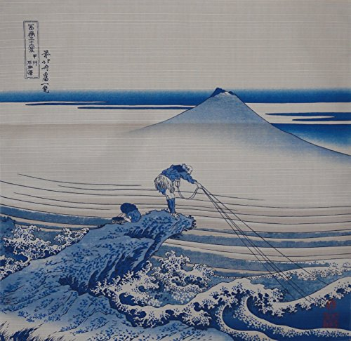 Motif Japan (Furoshiki Wrapping Cloth Hokusai's Koshu Kajikawa Fisherman Motif Japanese Fabric 48cm)