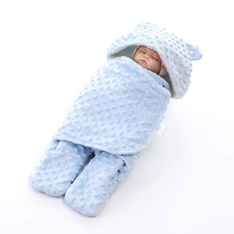 Baby Swaddle Wrap Saco Manta con pierna Boy Girl, Newborn Berber Fleece Swaddling Sleepsack,