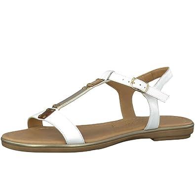 Marco Tozzi Mimi Womens Buckle Fastening Sandals 9/42 White: Amazon ...