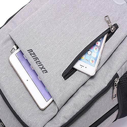 De con Robo Mochila Y Portátil De Puerto Estudiante Inteligente Viaje Anti USB Mochila Carga Zhrqinss Contraseña Hombres Impermeable Bloqueo Negocios De 1 xEpwaC6EZq
