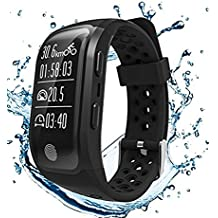 GooPhone Waterproof Fitness Tracker Watch with Heart Rate Sleep Monitor GPS Activity Tracker Band for ios& Android