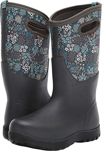 Bogs Women's Neo Classic Tall Nw Garden Boot Gray Multi Size 9 B(M) US (Winter Bogs Boots Women)