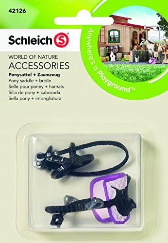Schleich North America Pony Saddle + Bridle Toy Figure