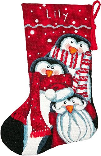 Dimensions Holiday Penguins Stocking Needlepoint Kit #71-09158 by Dimensions