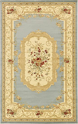 Cheap Persian Traditional Design rugs, Light Blue 10′ 6″ x 16′ 5″ – Feet Tiba Collection Area rug – Perfect for any Room, Floor Carpet