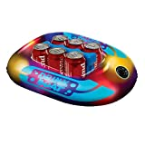 Pool - Toy Inflatable This Cool Big Blow Up Illuminated Drink Boat is Great for Adults to Swim & Slide On Water, River, Lake, Swimming Pool & Park