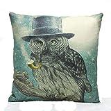 Winhurn Animal Print Festival Pillow Case for Sofa Bed Home Decoration (Light Green)