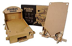 PinBox 3000 Build Your Own Cardboard Pinball Game Kit | Customizable DIY STEM Toy for Boys and Girls