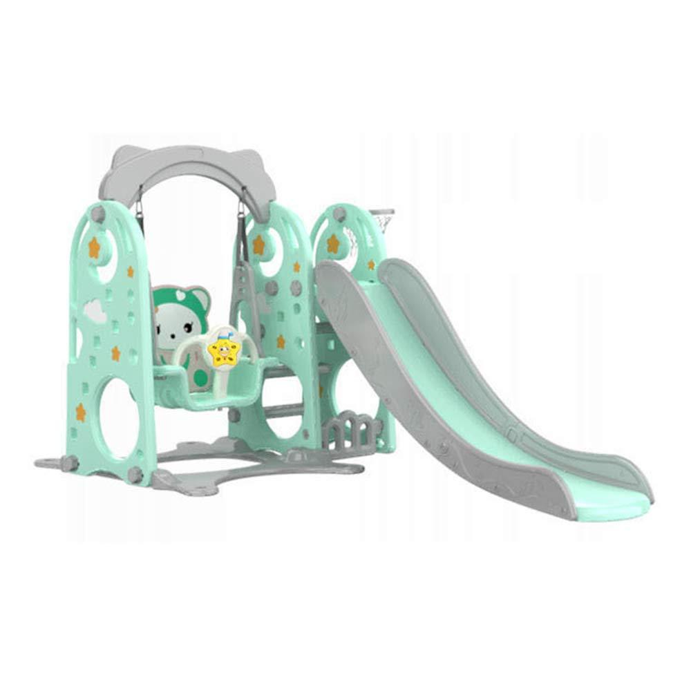 【保障できる】 3-1 子供のプラスチックスライドスイング B07KXG94LZ & クライミング壁、1.8 m スーパー長いスライド安全手すり & 水に満ちたベース & m、子供の楽しみのための屋内頑丈なおもちゃ B07KXG94LZ Green Green, 会社の星:a7dc1f08 --- svecha37.ru