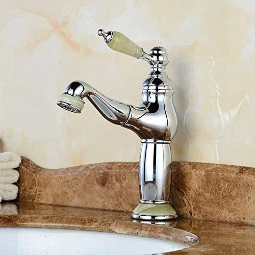 BXU-BG 蛇口浴室を混和池蛇口銅クラシックキッチンとバスルームウェアジェイドのハンドルリフトタイプは、バスルームタップをタップ