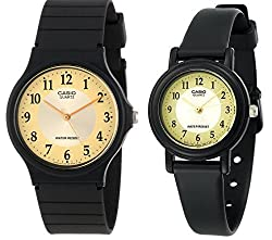 Casio #MQ24-9B3/LQ139A-9B3 Men and Women's Classic Analog Watches