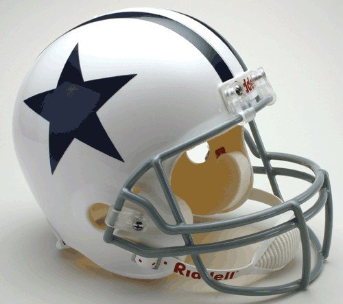 RIDDELL Dallas Cowboys Replica Throwback Helmet White (Dallas Cowboys Deluxe Replica Helmet)