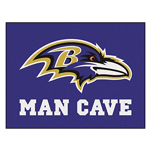 FANMATS 14268 NFL Baltimore Ravens Nylon Universal Man Cave All-Star ()