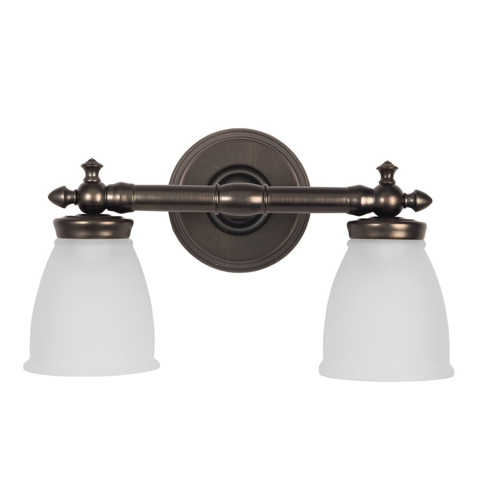 Delta Victorian Two Light Bath Vanity Finish Oil Rubbed Bronze Wall Sconces Com