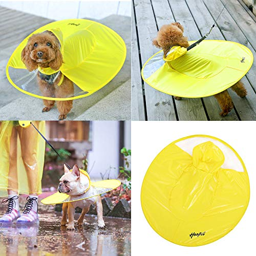 Hpapadks Dog Raincoat Waterproof Cloak Umbrella All-Inclusive Pet Poncho, Giving The Dog A Warm Environment,Pet Clothes for Small Dogs