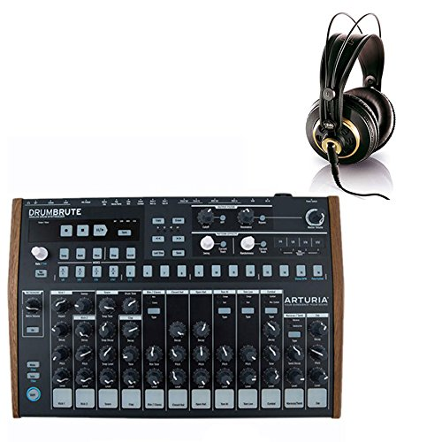 Arturia DrumBrute Analog Drum Machine with AKG K240 Studio Headphone by Arturia