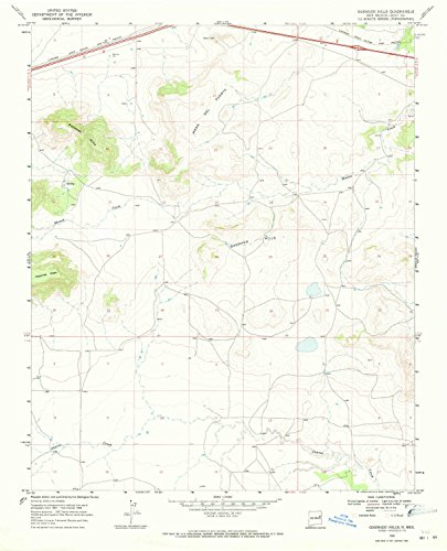 Quemado Hills NM topo map, 1:24000 Scale, 7.5 X 7.5 Minute, Historical, 1968, Updated 1971, 26.9 x 21.8 in - Paper