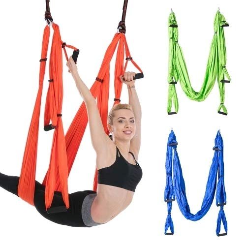 Aerial Yoga Flying Yoga Swing Yoga Hammock Trapeze Sling Inversion Tool for Gym Home Fitness