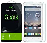 Alcatel OneTouch POP Astro Glass Screen Protector, Dmax Armor® Alcatel OneTouch POP Astro Screen protector [Tempered Glass] Ballistics Glass, 99% Touch-screen Accurate, Anti-Scratch, Anti-Fingerprint, Bubble Free, Round Edge [0.3mm] Ultra-clear, Maximum Screen Protection from Bumps, Drops, Scrapes, and Marks [1 Pack]- Retail Packaging
