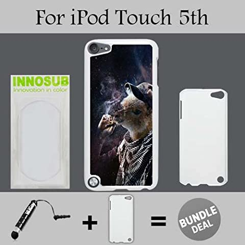 Funny Llama Smoking Out 420 Boyz Custom iPod 5/5th Generation Cases-White-Plastic,Bundle 2in1 Comes with Custom Case/Universal Stylus Pen by (Ipod 5 Llama Case)