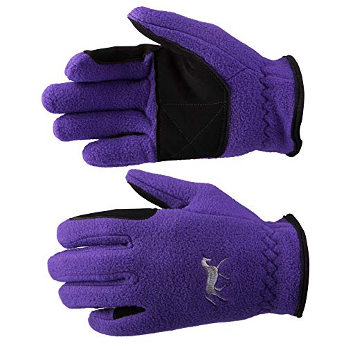 HORZE Kids Fleece Gloves - 6, Sultry Violet(SVPU)