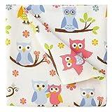 Kute Kids Super Soft Sheet Set - Owl Print - Brushed Microfiber for extra comfort