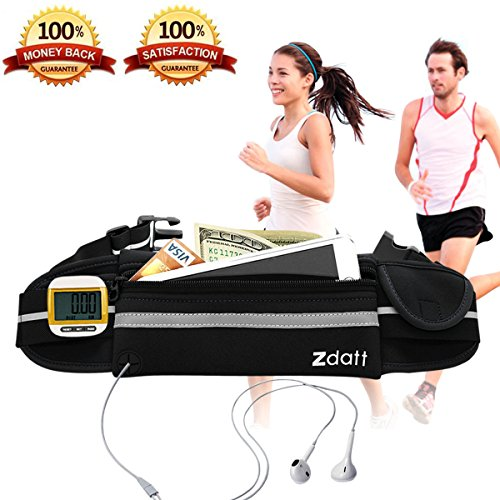 Running Belt, Zdatt Outdoor Sport Water Resistant Reflective Waist Pack Running Belt Fanny Pack for Hiking Trip Fitness Gym for iPhone Samsung and Big Smart Phones
