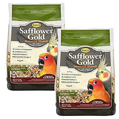 (Higgins Safflower Gold Natural Food Mix for Conures & Cockatiels - Double)