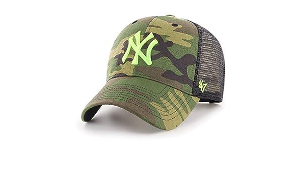 69644641150f7 Amazon.com    47 Brand Trucker Cap - Branson NY Yankees Wood camo   Sports    Outdoors