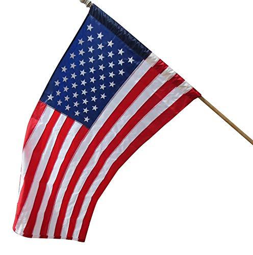 Trade Winds 3x5 Foot US USA American Flag Sleeve & Hem House Banner Pocket ()