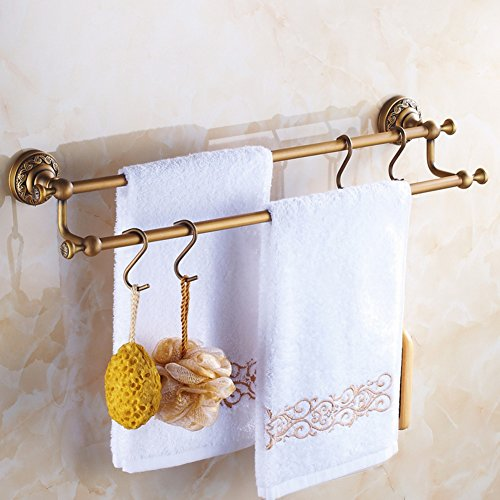 Bathroom Accessories Brass European Style Toilet Double Rod Towel