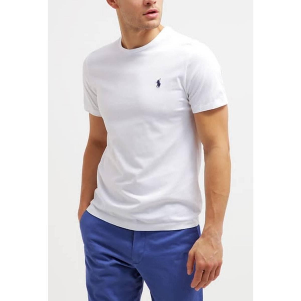 Polo Ralph Lauren - Camiseta - para hombre blanco blanco: Amazon ...