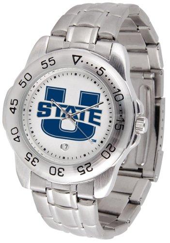 SunTime Utah State Aggies Sport Steel Band Men's - Utah Aggies Sport Watch State