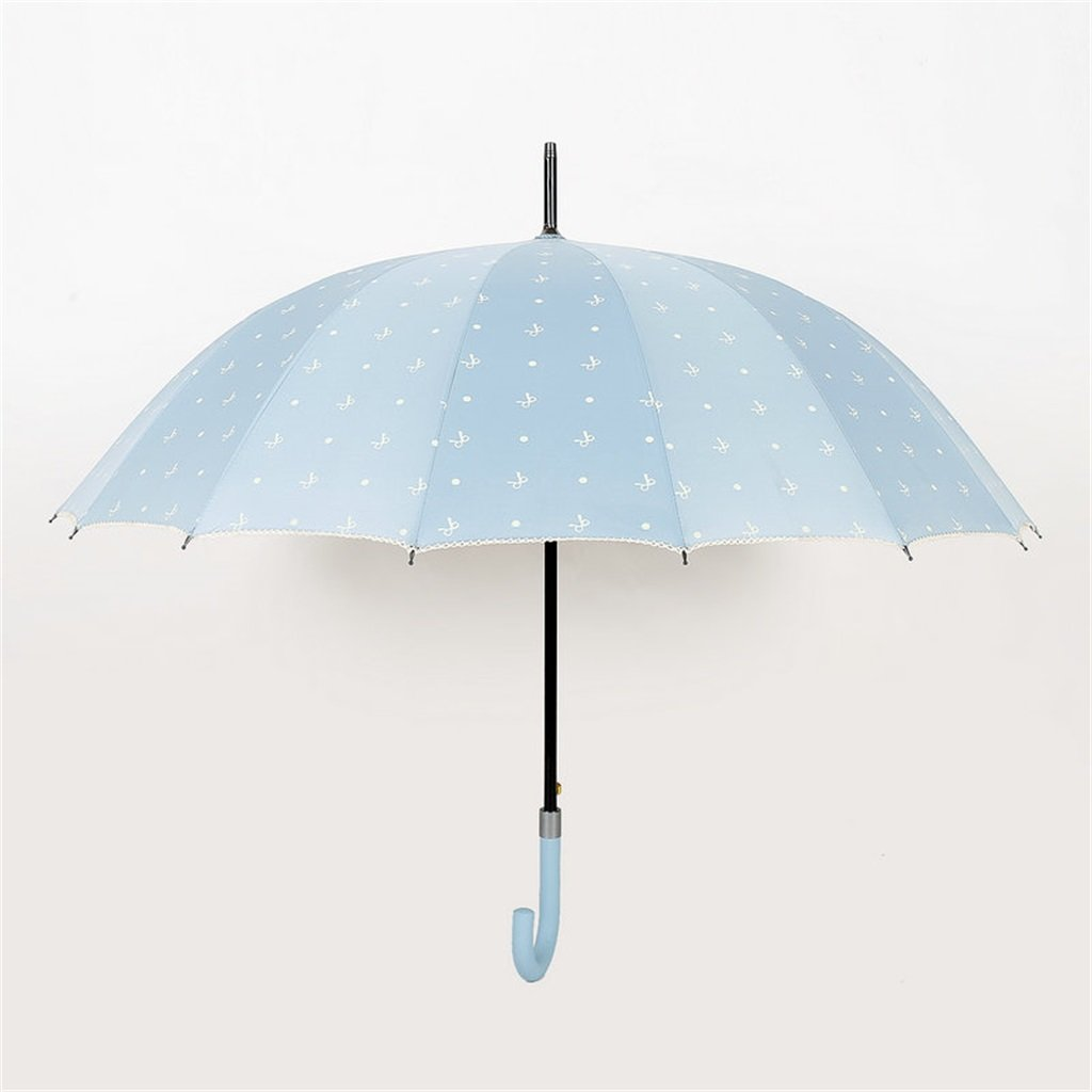 HLH-YS 16 Knochen Umbrella Sunny Umbrella Die Kunststoffbeschichtung Anti-UV M/änner und Frauen Mode Einfache Sonnenschirm Langstieligen Regenschirm-gerades Regenschirm