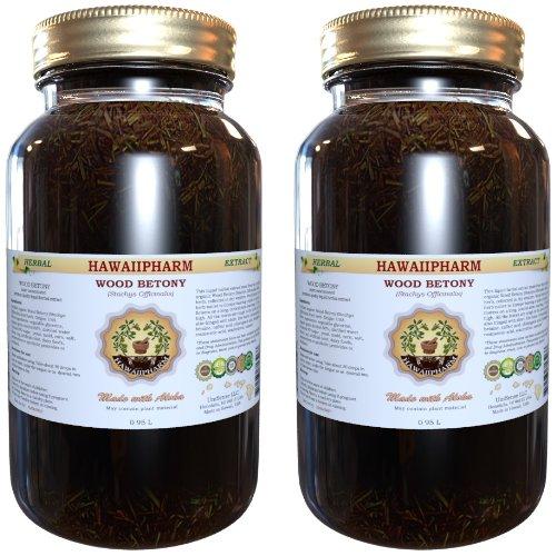 Древесина Betony жидкий экстракт, органические Буквица лекарственная (Буквица лекарственная) Настойка 2x32 унция