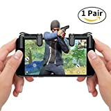 Mobile Game Controller Cell Phone Game Fire Button Aim Key Game Joystick Smart Phone PUBG Knives Out Rules of Survival Gaming Shooter Trigger L1R1 for Android iOS(1 Pair) Sunba Youth