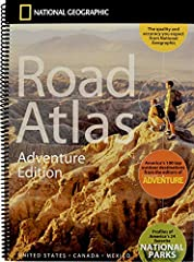 National Geographic's Road Atlas: Adventure Edition, is the ideal companion for the next time you hit the road. Includes up-to-date road maps for all 50 U.S. States, plus Canada, Mexico, and Puerto Rico. Major cities and metropolitan a...