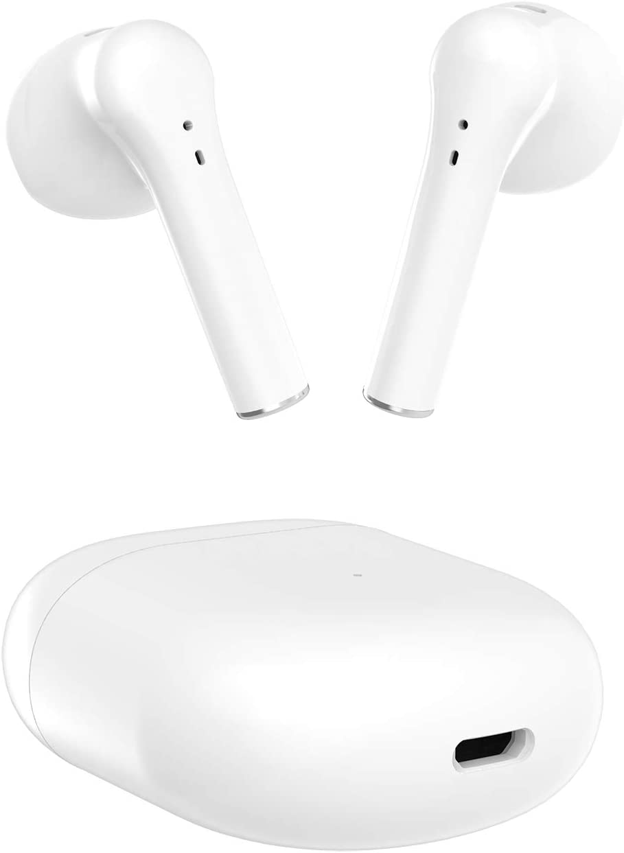 Wireless Earbuds, Air Podswireless Bluetooth Headphones with Charging Case, 3D Stereo Air Buds in-Ear Ear Buds, Compatible with iPhone/Android/Samsung