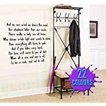 Stairway To Heaven 2 (Led Zeppelin Lyric wall decal sticker quote (Color: Black Size: Large)