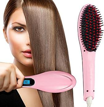 Oak Leaf Hair Straightener & Pro Detangling Hair Brush
