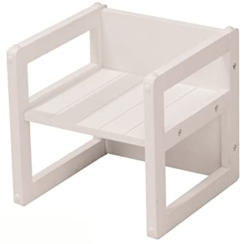 Kindermöbel tisch und stühle  Sitzhocker, Nutzbar als Stuhl oder Tisch, Weiß, 30x30cm - Kinder ...