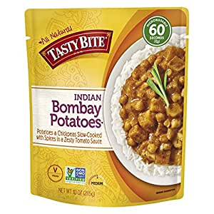 Tasty Bite Indian Bombay Potatoes, Microwaveable Ready to Eat Entrée, 10 Ounce (Pack of 6)