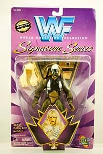 WWF / WWE - 1997 - Signature Series - Goldust Action Figure - Official Autographed Facsimile Figure - Series 1 - Bonus Display Base - Jakks - Limited Edition - Mint - Collectible