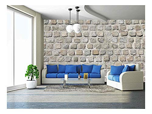 (wall26 - Cobblestone Road Background Pattern - Removable Wall Mural | Self-Adhesive Large Wallpaper - 66x96 inches)
