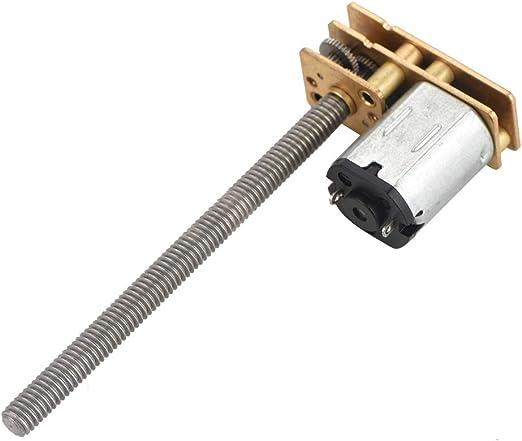 Micro Boite de Vitesse Moto-reducteur 12V N20 Moteur Electrique de R/éduction de Vitesse Bo/îte /à Engrenages avec Long Vis Filetage M4 x 100mm. 6V 200RPM CC 6